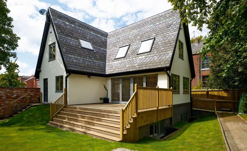 Self build home in suburban Manchester featuring structural insulated panels