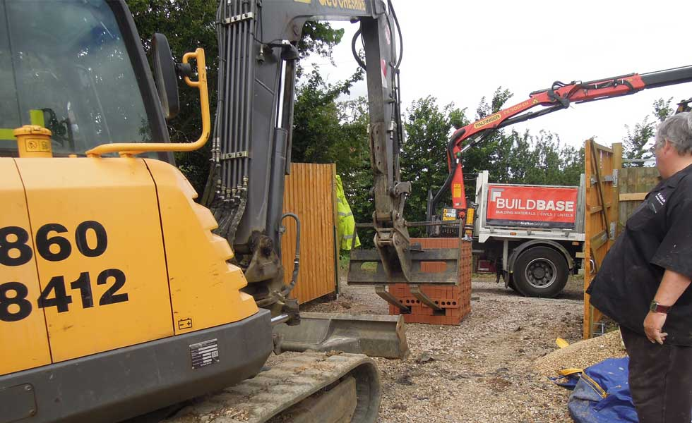 brick delivery on site
