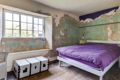 Farmhouse renovation bedroom interior