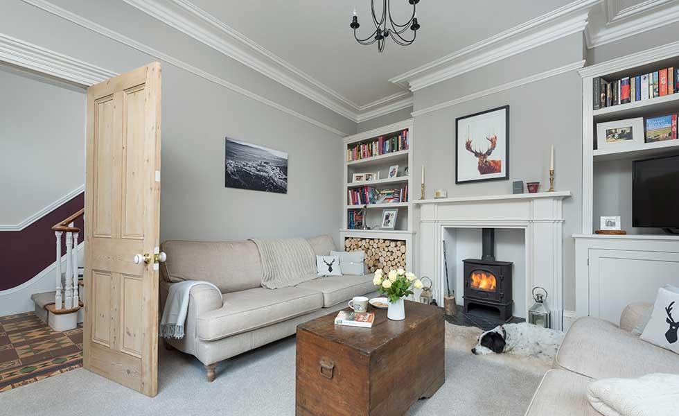 Victorian renovation living room
