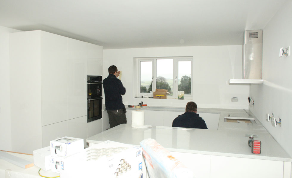 Building a house - fitting the kitchen units