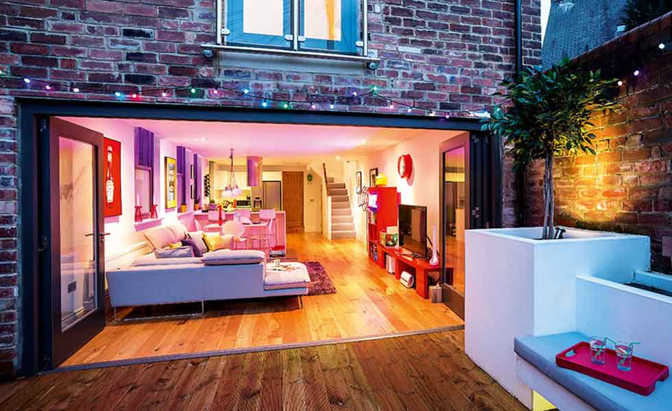 This coach house conversion has been turned into a modern family home