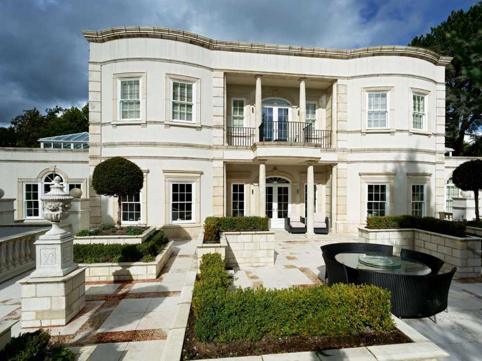 Classical style self build build with ICF