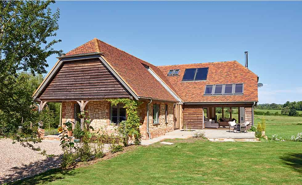 Stone clad self build, featuring ICF
