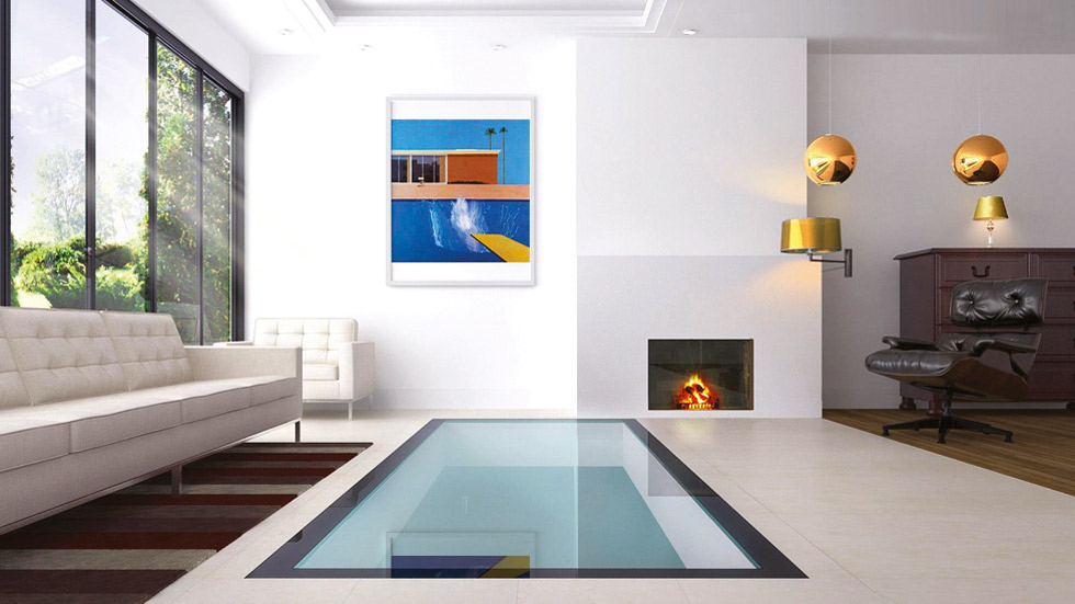 Adding glass panels to a floor can help rooms above and below to borrow natural daylight