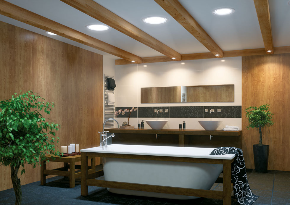 Add light tunnels to bring light into spaces where a window is not possible or feasible