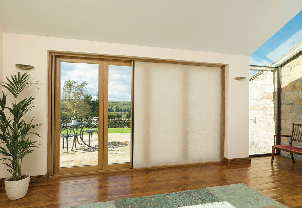 These screens from Centor offer shade and privacy