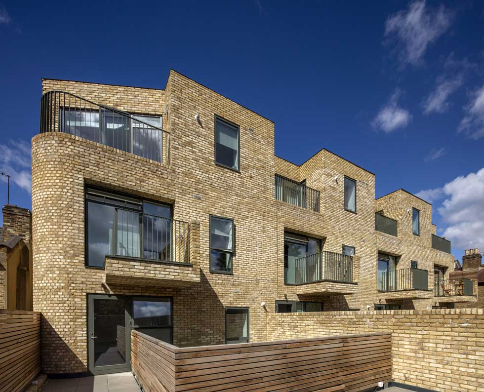 Exterior of group self build project in Battersea, London
