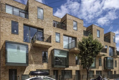 Exterior group self build luxury apartments in London