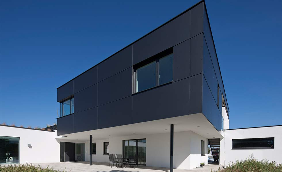 Contemporary house with Trespa cladding