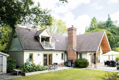 Traditional style self build in pretty rural location