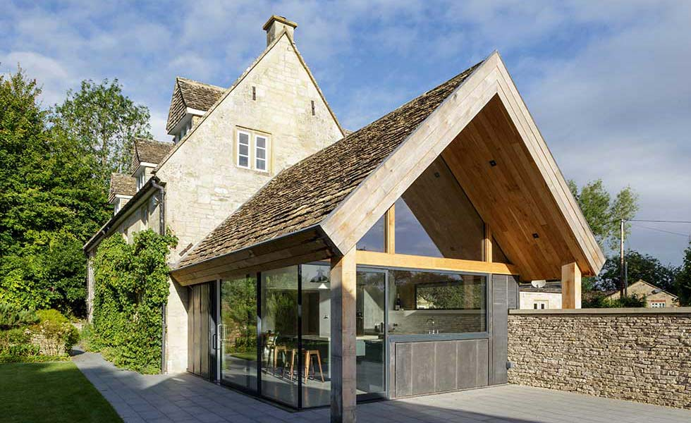 Duo pitch roof on Grade II listed cottage extension