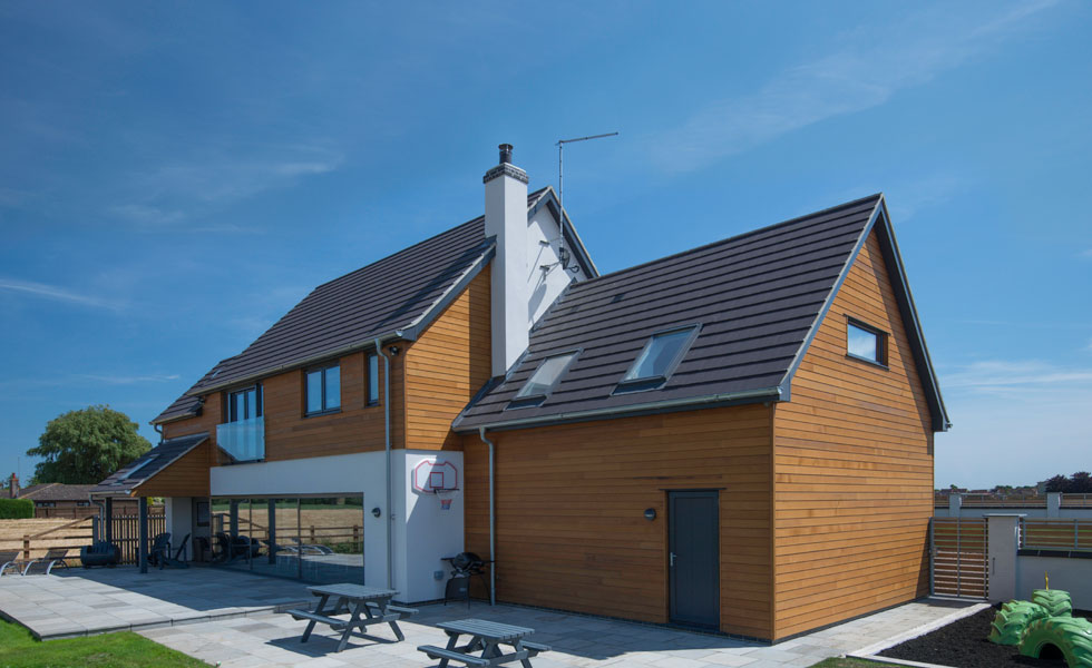 Timber and render cladding