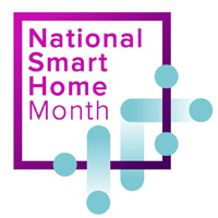 national smart home month logo