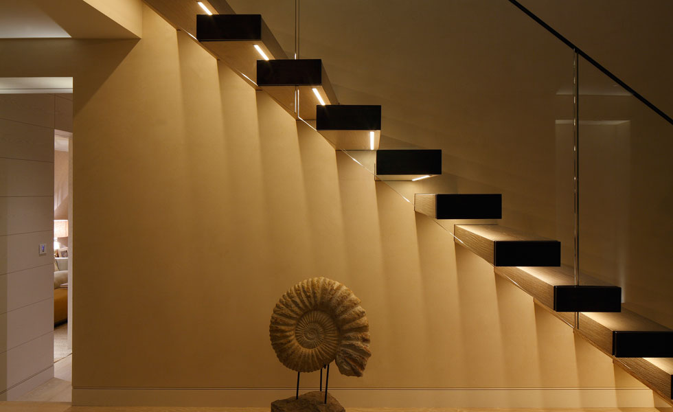 An important consideration when it comes to your staircase design is how it will be lit