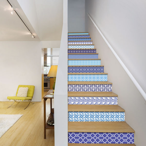 Use staircase stickers for a quick and easy update