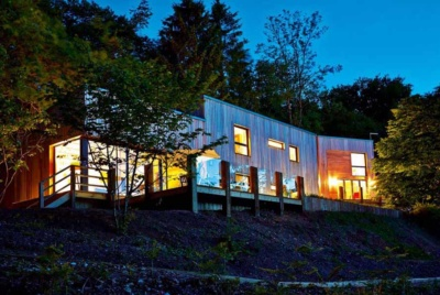 Contemporary woodland self build
