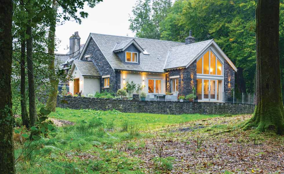 Timber frame self build in the Lake District