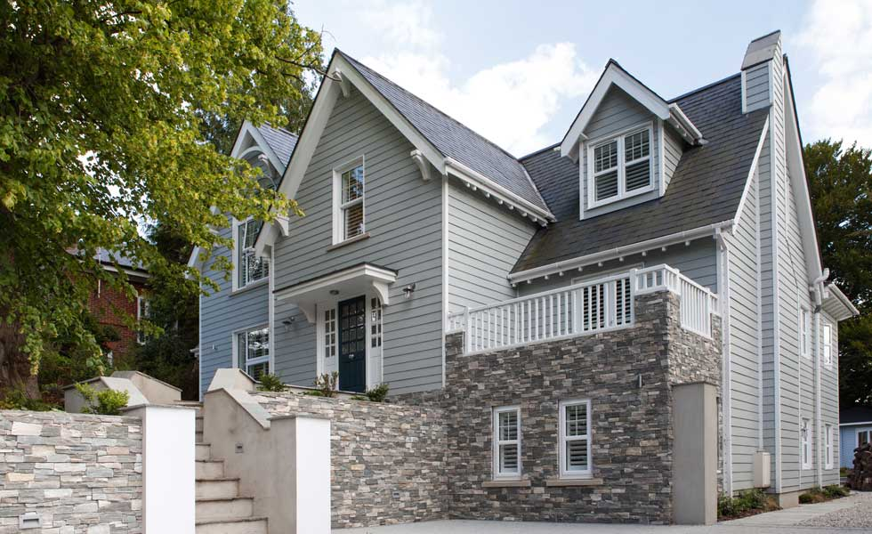 New-England style exterior makeover