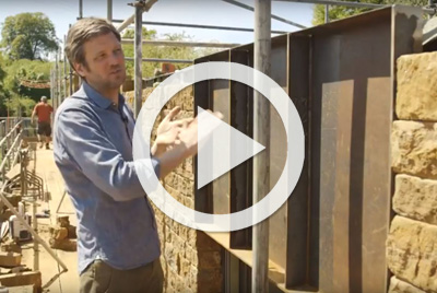 Charlie Luxton installs Corten on his self build project