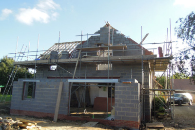 roof extension scaffolding