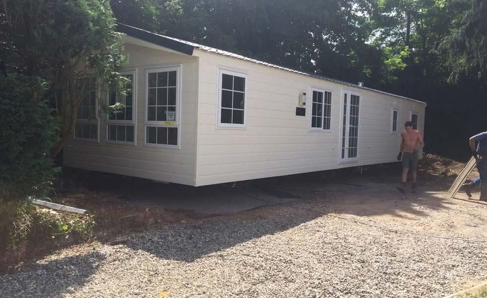 Living in a caravan on self build site