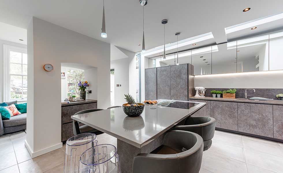 victorian terrace contemporary kitchen