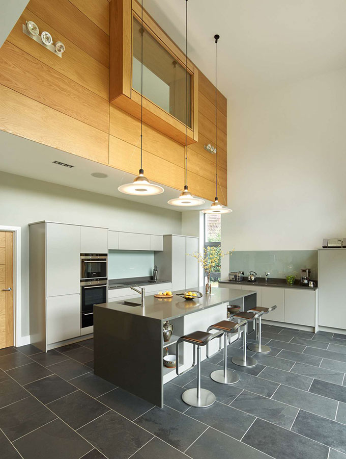 double height kitchen contemporary
