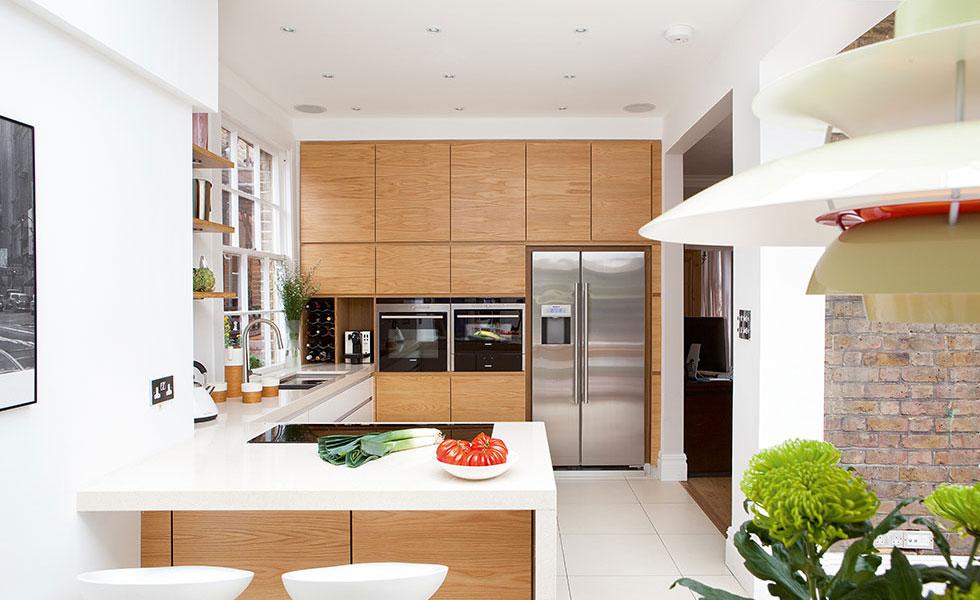 contemporary orangery kitchen
