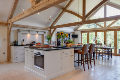 £40k oak frame extension to a Welsh farmhouse