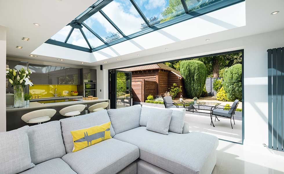 Exceptionnel Open Plan Living Space In Garage Conversion