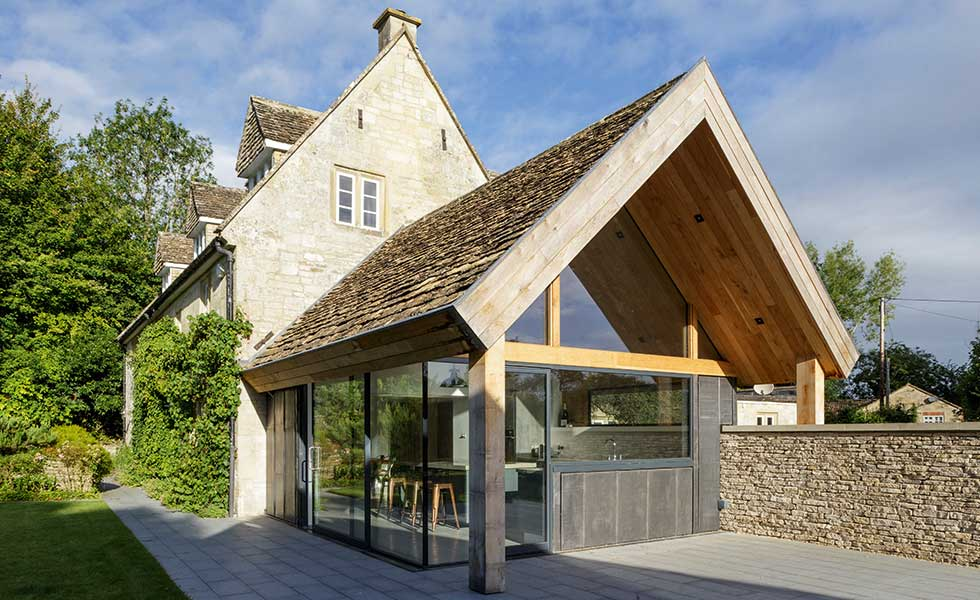 This listed cottage has been subject to a sensitive extension