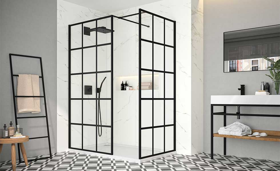 Contemporary shower enclosure