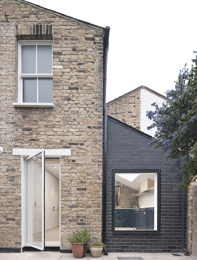black brick extension to london terrace