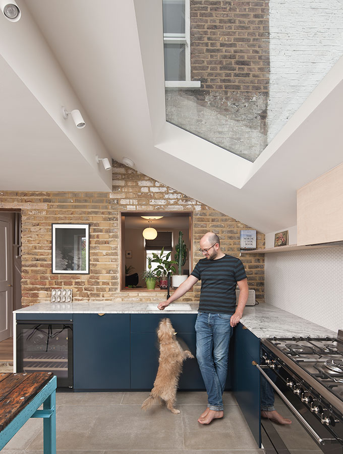 interior of modern extension with rooflights
