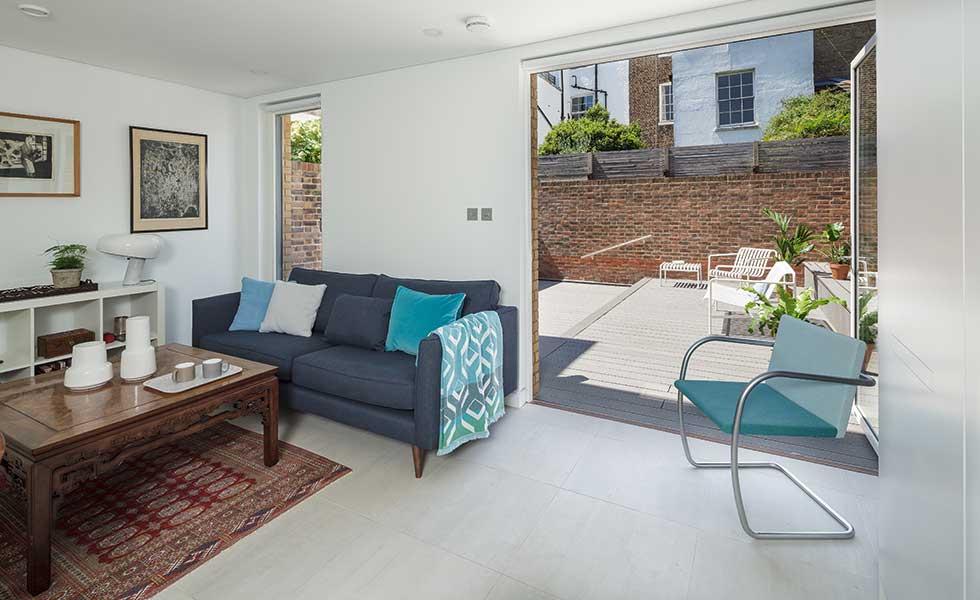 London passivhaus living area