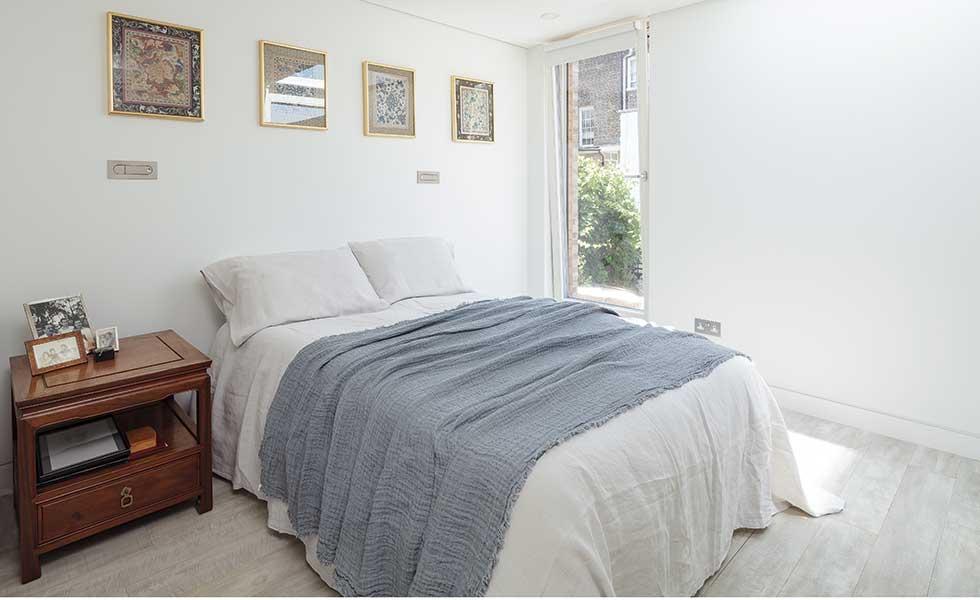 London passivhaus bedroom