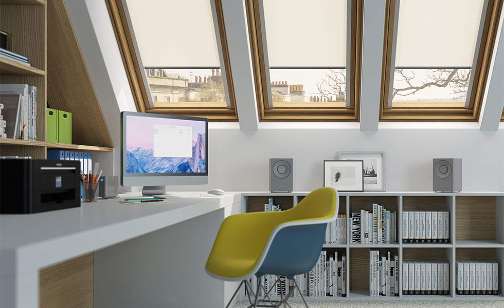 Home office created in loft conversion