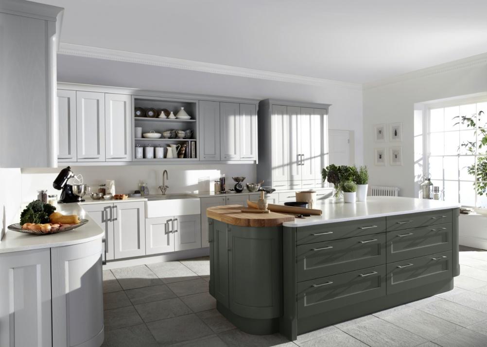 Modern farmhouse kitchen with island