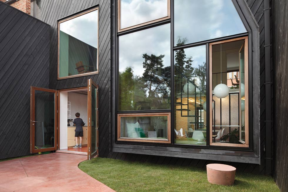 Charred timber can be used to clad a property's exterior