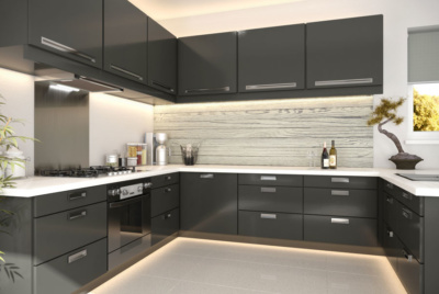 Charred timber can be used internally, and could work great as a kitchen splashback