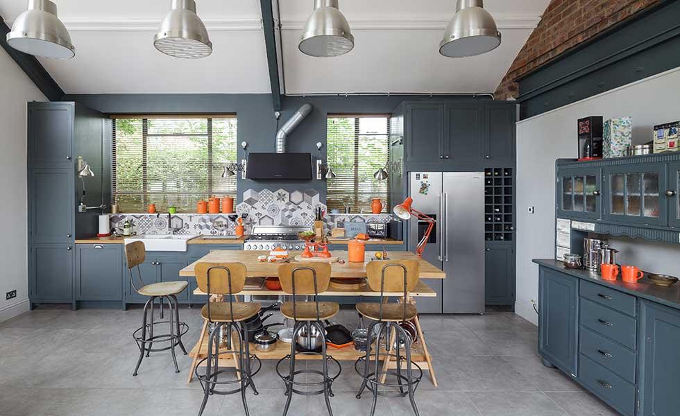 Industrial style kitchen diner