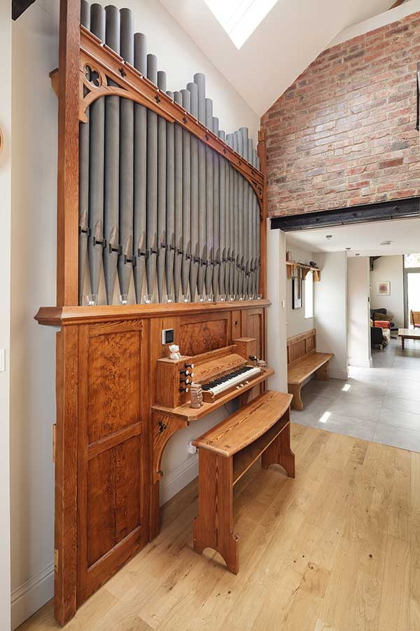 Restored organ in chapel conversion