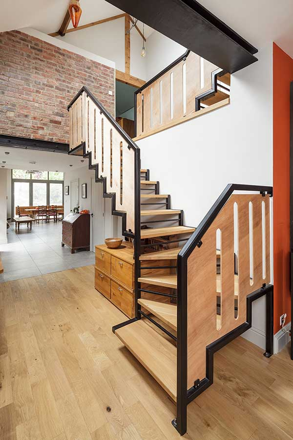 New timber and steel contemporary staircase