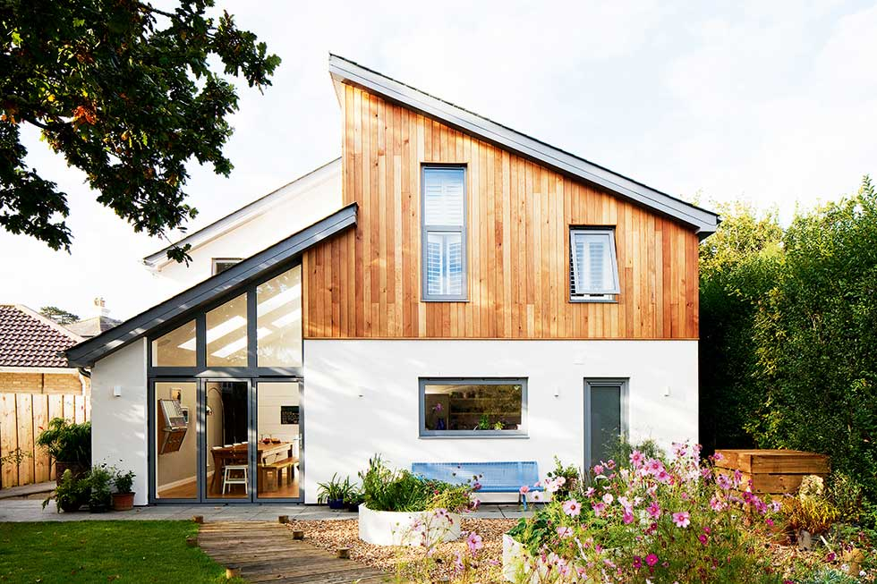eco self build home on a small plot