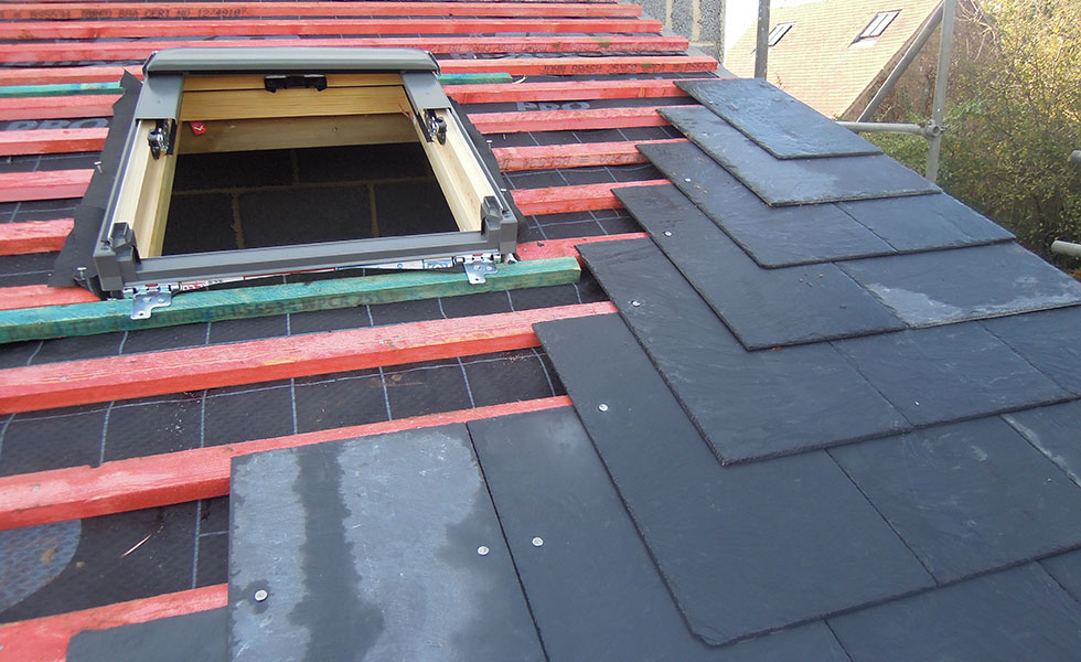 slate-roofing on extension