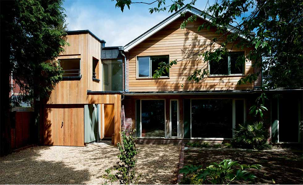 Timber frame extension by PADStudio