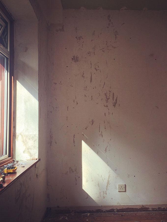 house in process of refurbishment- window