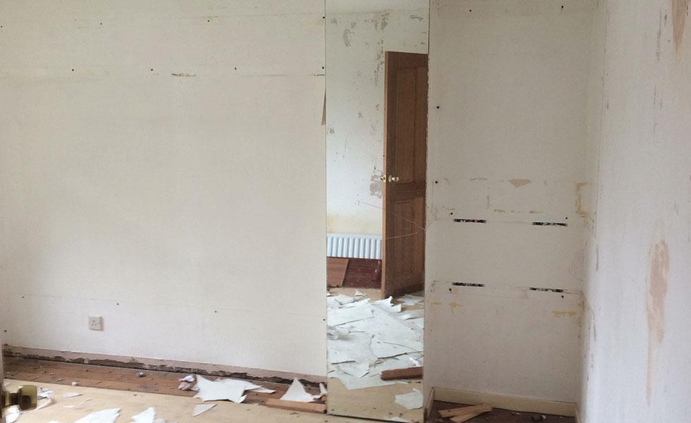 house being refurbished interior