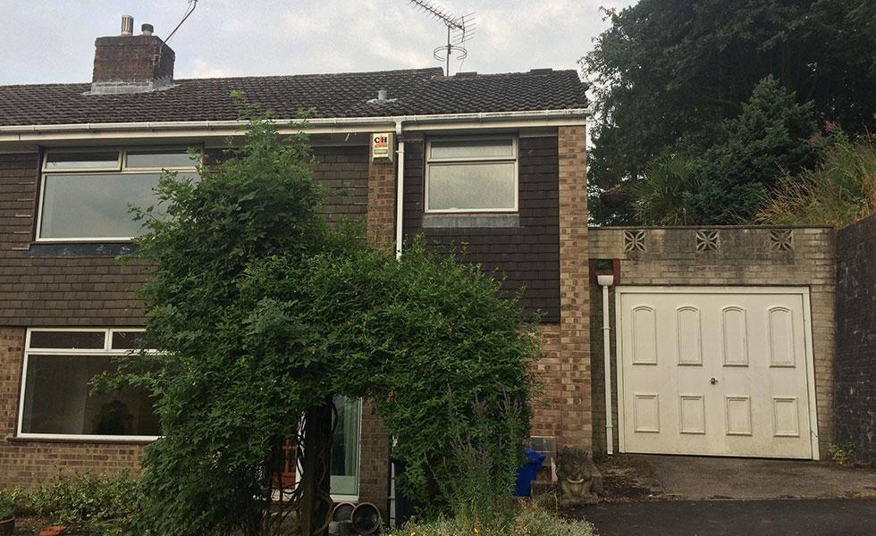 semi-detached 1960s house exterior